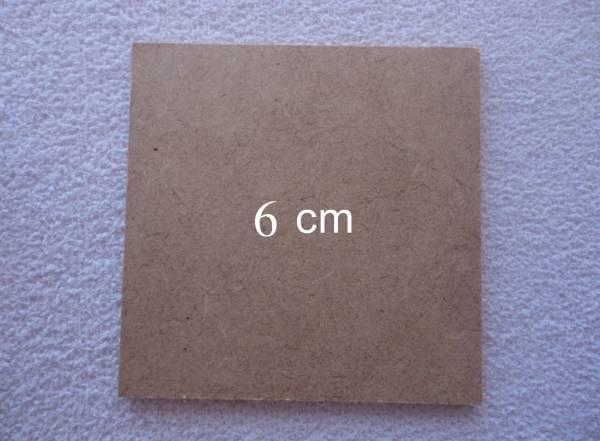 Foto 1 - Cód M555 Base MDF quadrada 6x6 cm