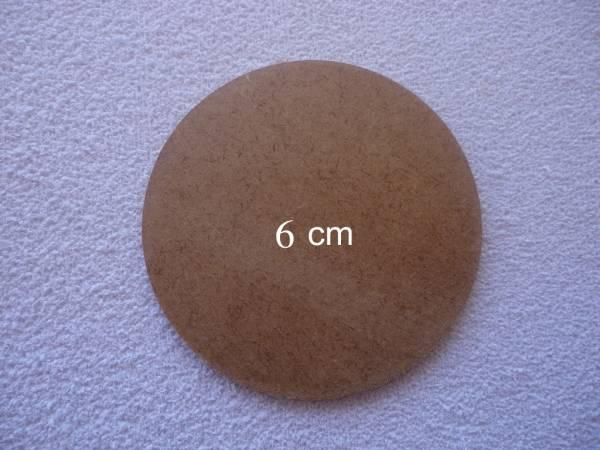 Foto 1 - Cód M559 Base MDF redonda 6 cm