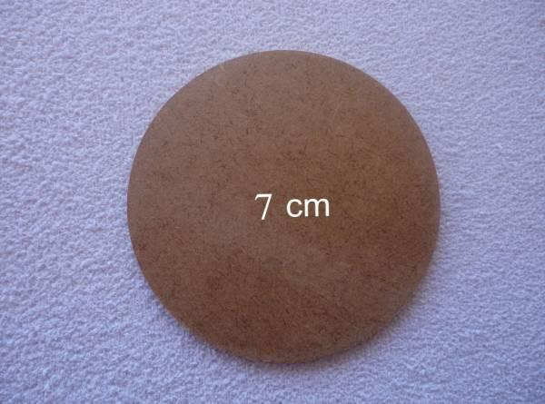 Foto 1 - Cód M560 Base MDF redonda 7 cm
