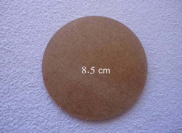 Foto 1 - Cód M561 Base MDF redonda 8,5 cm