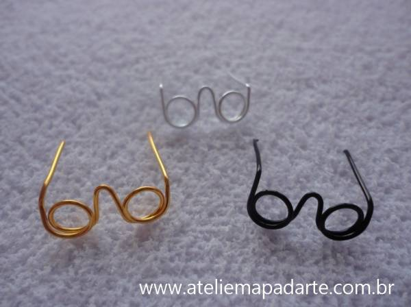 Foto3 - Cód M601 Mini óculos prata (P)