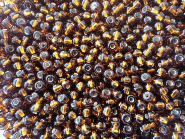 Foto 1 - Cód M614 Miçanga marrom transparente Nº 6