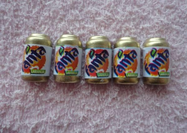 Foto 1 - Cód M632 Miniatura fanta laranja lata c/ 10 un