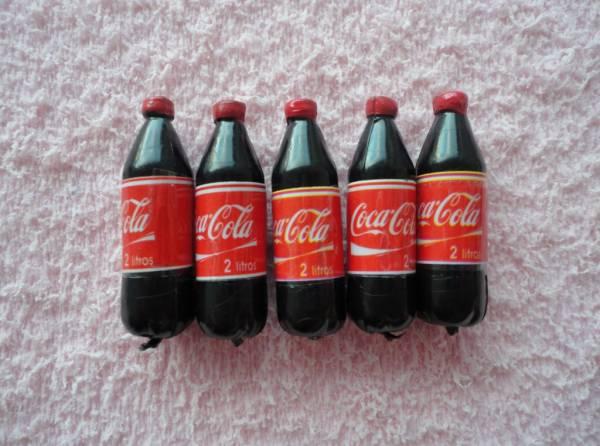 Foto 1 - Cód M633 Miniatura coca cola garrafa c/ 5 un