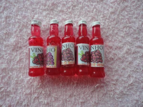 Foto 1 - Cód M634 Miniatura vinho tinto c/ 5 un