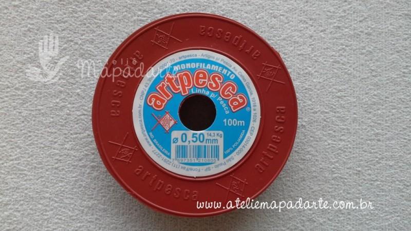 Foto2 - Cód M717 Linha de nylon preto 50mm com 100 mt