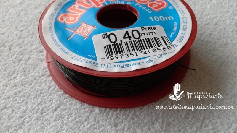 Foto 1 - Cód M718 Linha de nylon preto 40mm com 100 mt