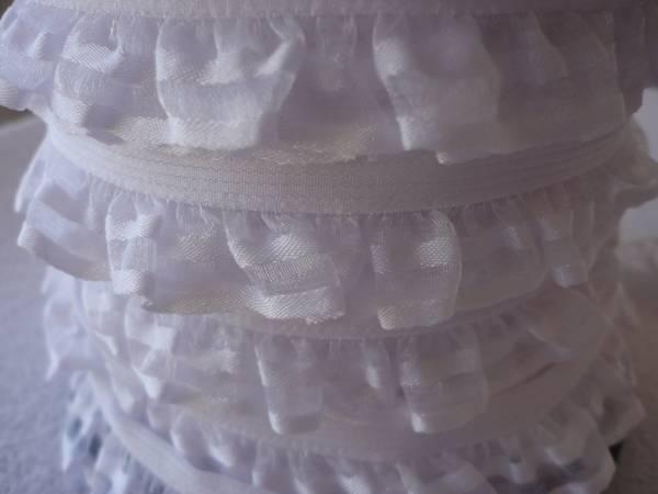 Foto2 - Cód M719 Renda branca 2 babados (detalhe branco na borda)