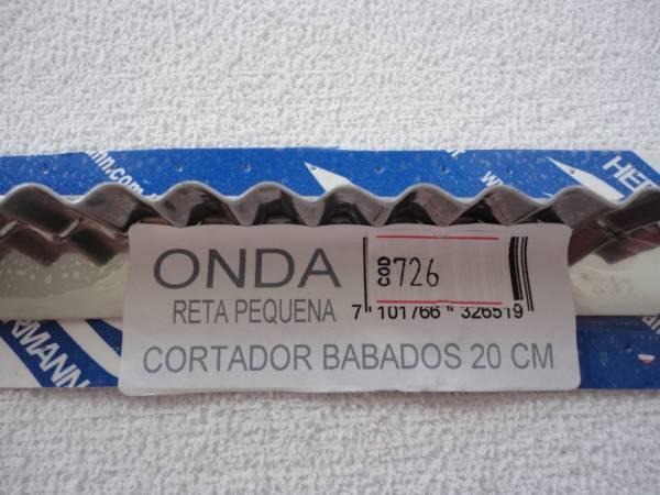 Foto2 - Cód M726 Cortador inox onda reto (pequeno) 20 cm (H)