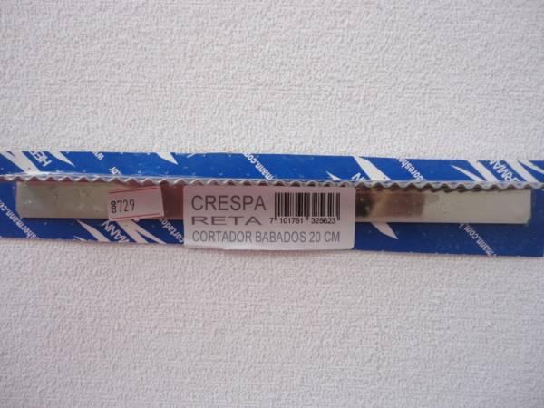 Foto 1 - Cód M729 Cortador inox reto crespa 20 cm (H)