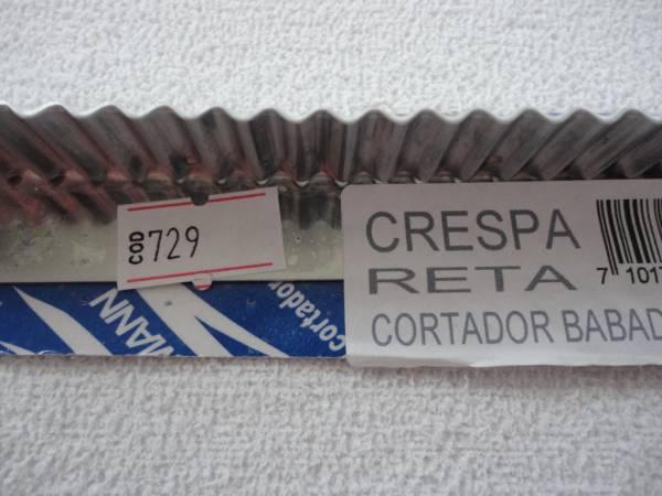 Foto2 - Cód M729 Cortador inox reto crespa 20 cm (H)