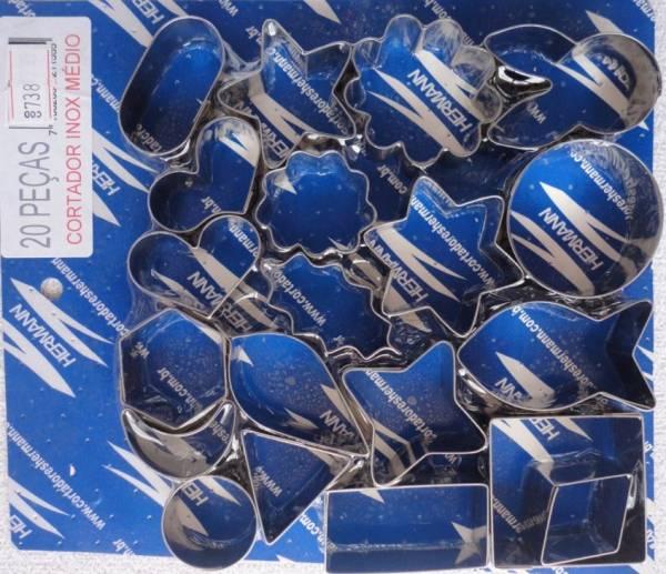 Foto 1 - Cód M738 Cortador inox com 20 peças variadas (médio 555) (H)