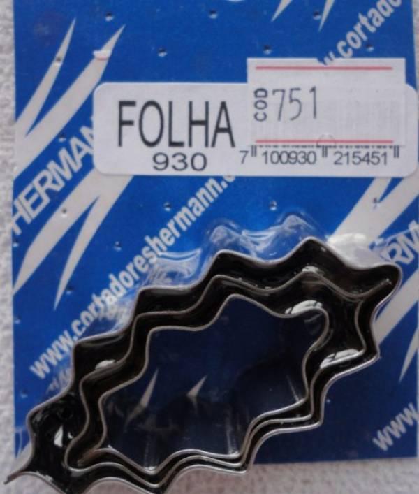 Foto 1 - Cód M751 Cortador inox folha ondulada (pequena 23) 3 peças (H)