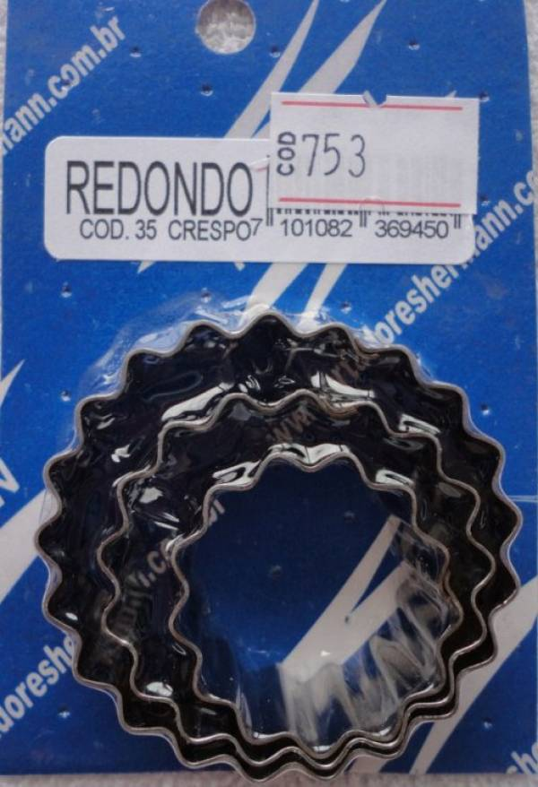 Foto 1 - Cód M753 Cortador inox redondo crespo ref.35 (pequeno) 3 peças (H)