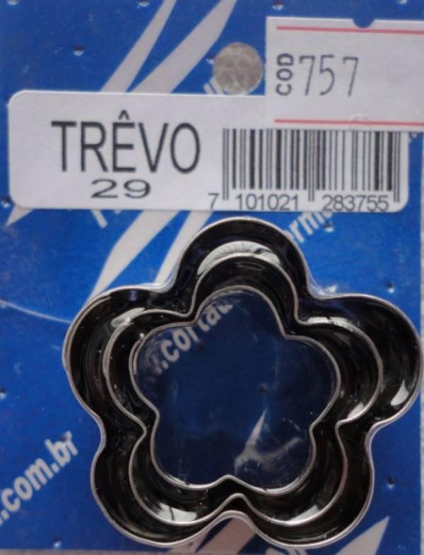 Foto 1 - Cód M757 Cortador inox de trêvo (pequeno) 3 peças (H)