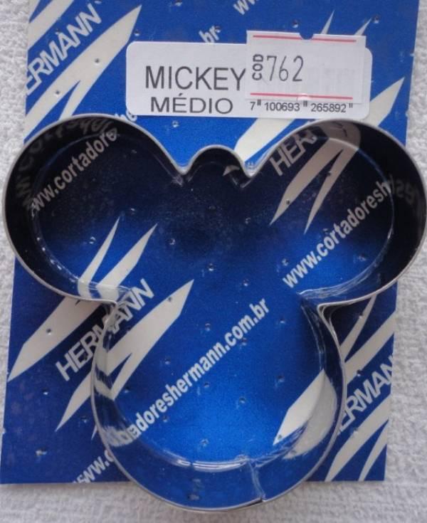 Foto 1 - Cód M762 Cortador inox mickey (médio) 1 peça (H)