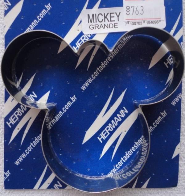 Foto 1 - Cód M763 Cortador inox mickey (grande) 1 peça (H)