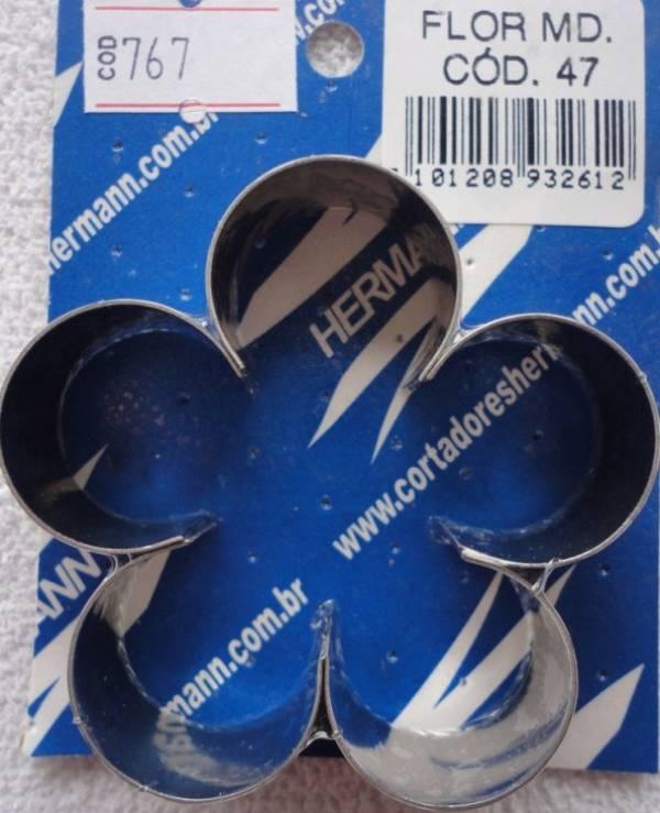 Foto 1 - Cód M767 Cortador inox flor (média) 1 peça (H)