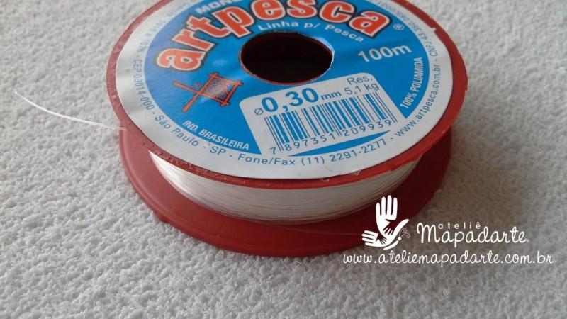 Foto 1 - Cód M804 Linha de nylon transparente 0.30mm com 100 mt