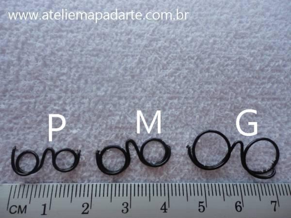 Foto3 - Cód M847 Mini óculos prata (G)