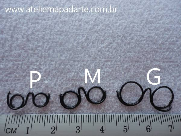 Foto4 - Cód M848 Mini óculos dourado (G)