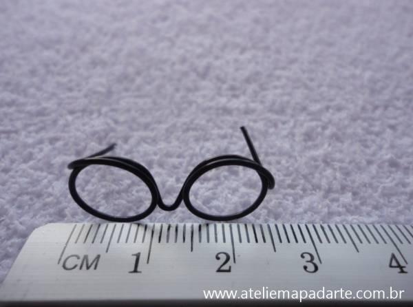 Foto2 - Cód M849 Mini óculos preto (G)