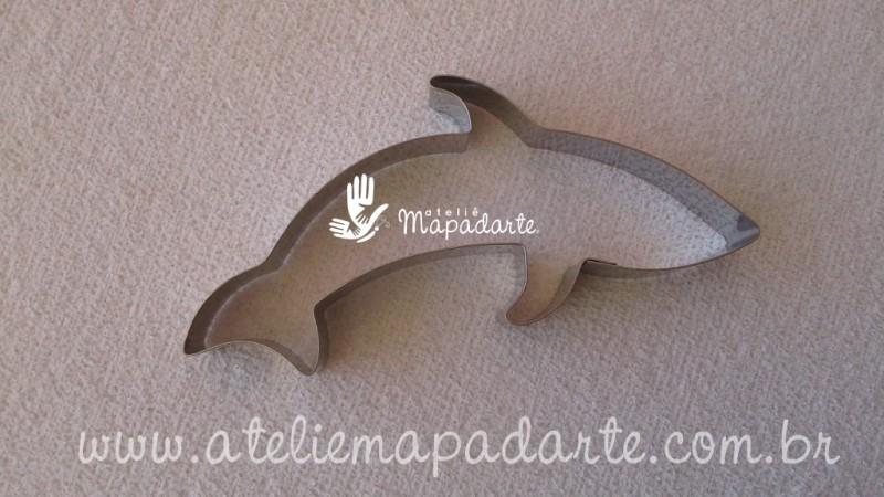 Foto 1 - Cód M908 Cortador inox tubarão 01 (CR)
