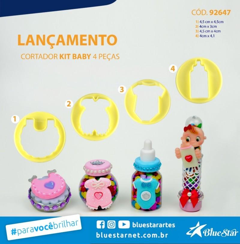 Foto2 - Cód M928 Cortador kit baby bluestar 4 peças
