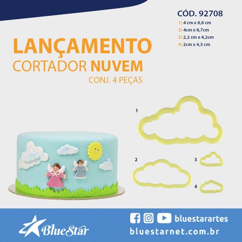 Foto 1 - Cód M933 Cortador nuvem bluestar 4 peças