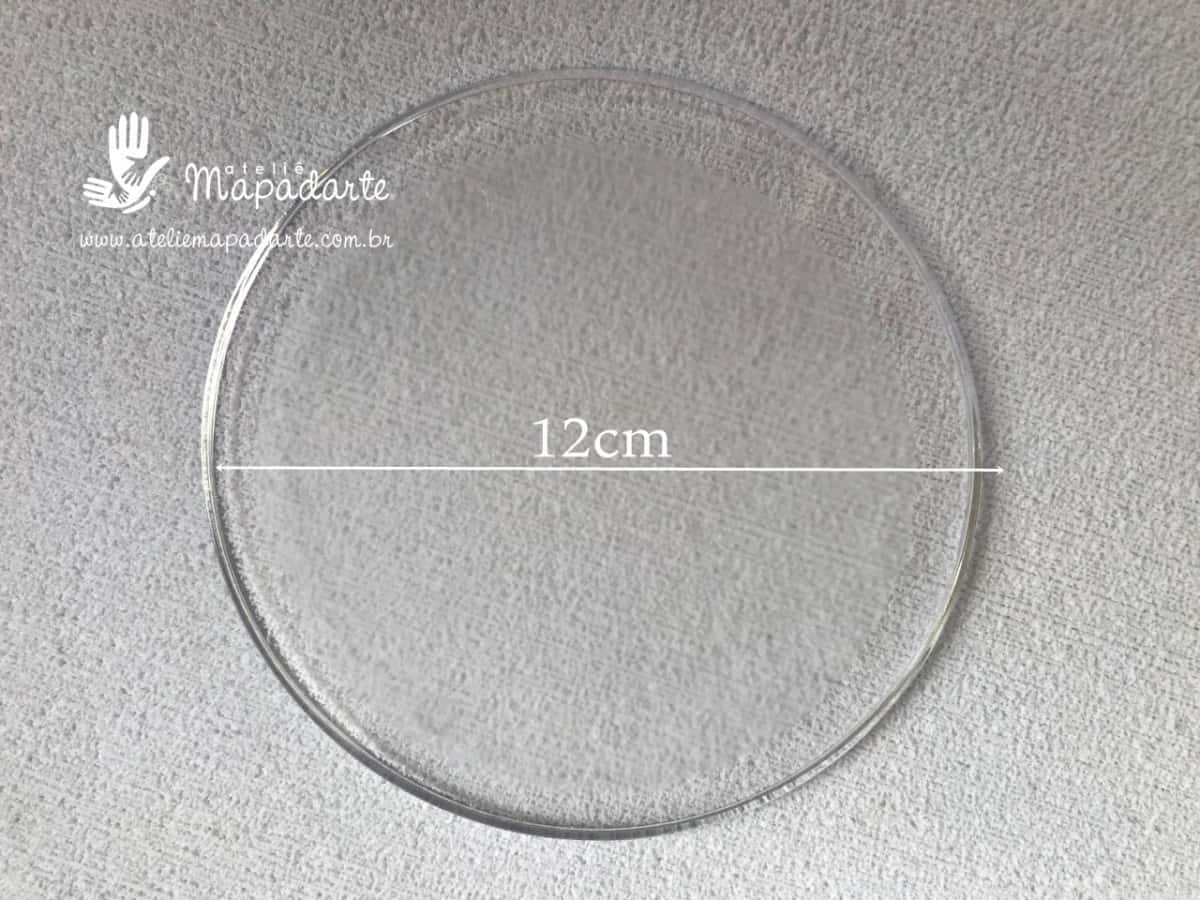 Foto 1 - Cód M942 Base acrílica transparente 12 cm com 02un