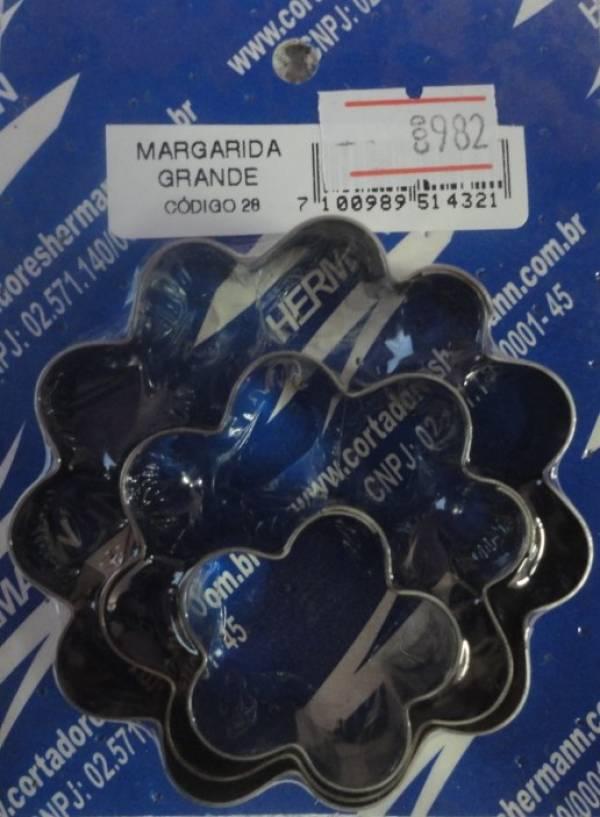 Foto 1 - Cód M982 Cortador inox de margarida G 3 pças (28) (H)
