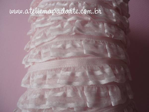 Foto2 - Cód M995 Renda rosa 2 babados (com detalhe na borda) 1 mt
