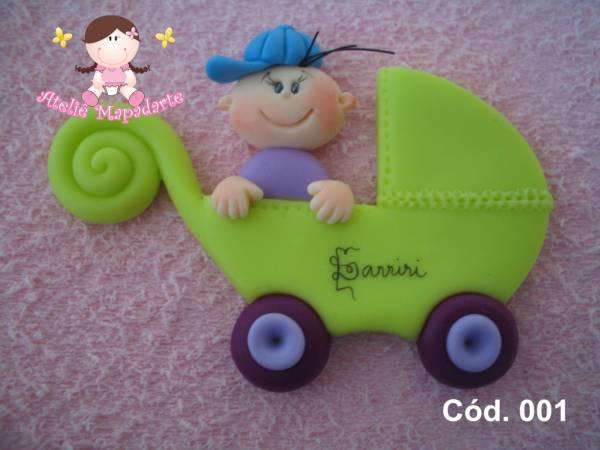 Foto 1 - Cód 001 Molde carrinho com bebê