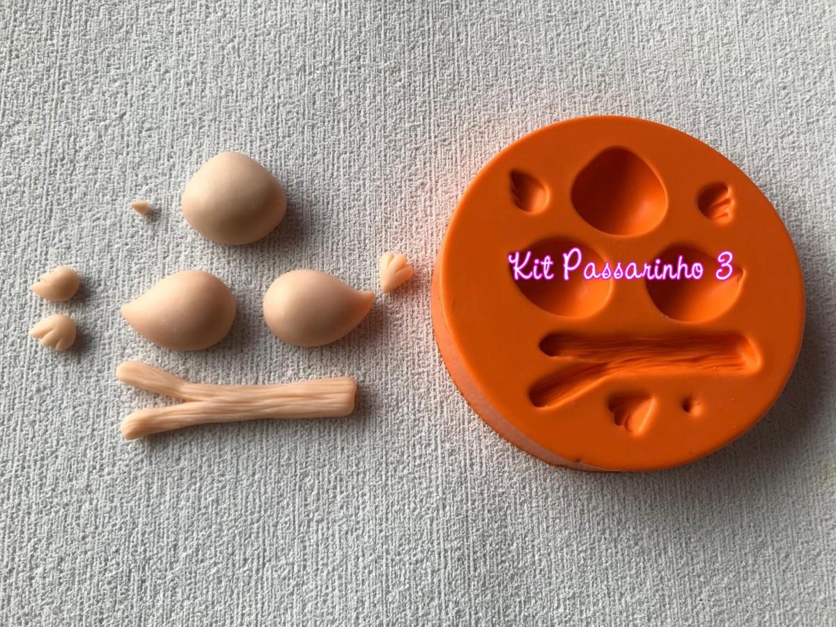 Foto2 - Cod 823 molde kit casal de passarinho 3