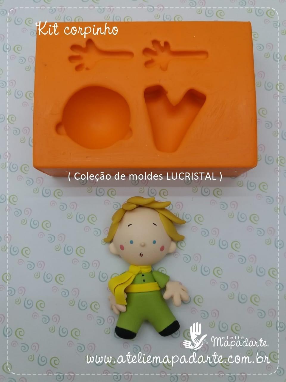 Foto 1 - Cód LC09 Molde de silicone kit corpinho (LUCRISTAL) Pequeno príncipe
