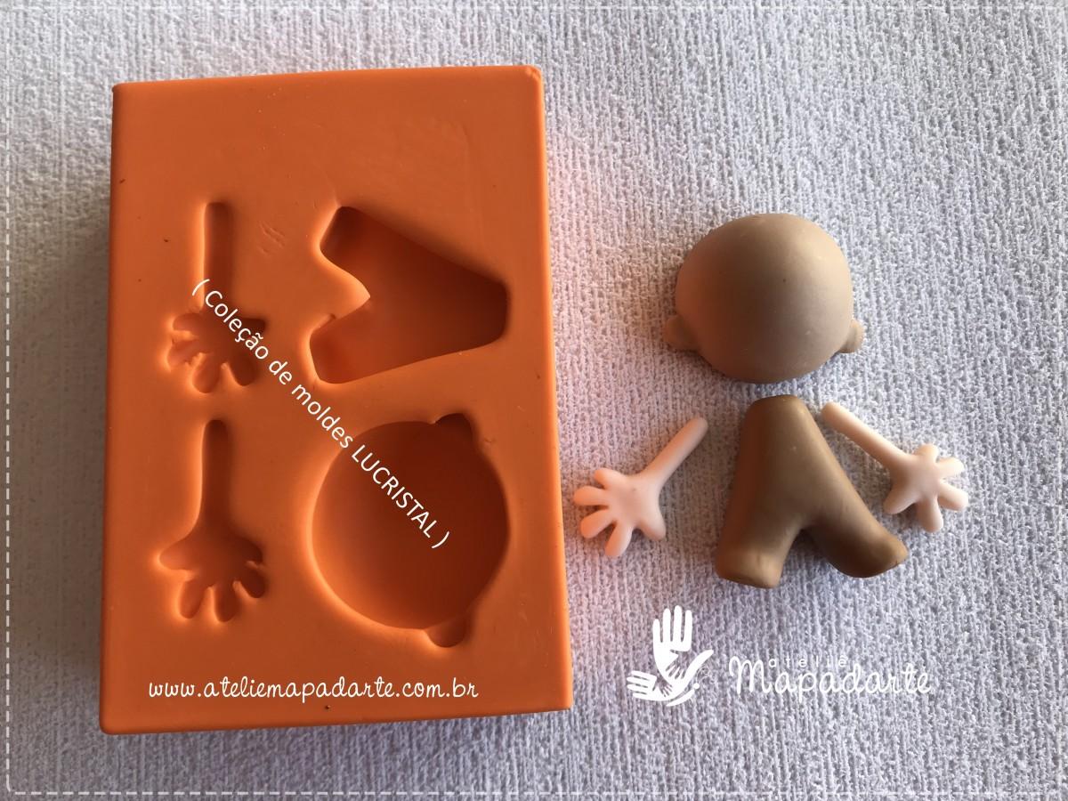 Foto2 - Cód LC09 Molde de silicone kit corpinho (LUCRISTAL) Pequeno príncipe