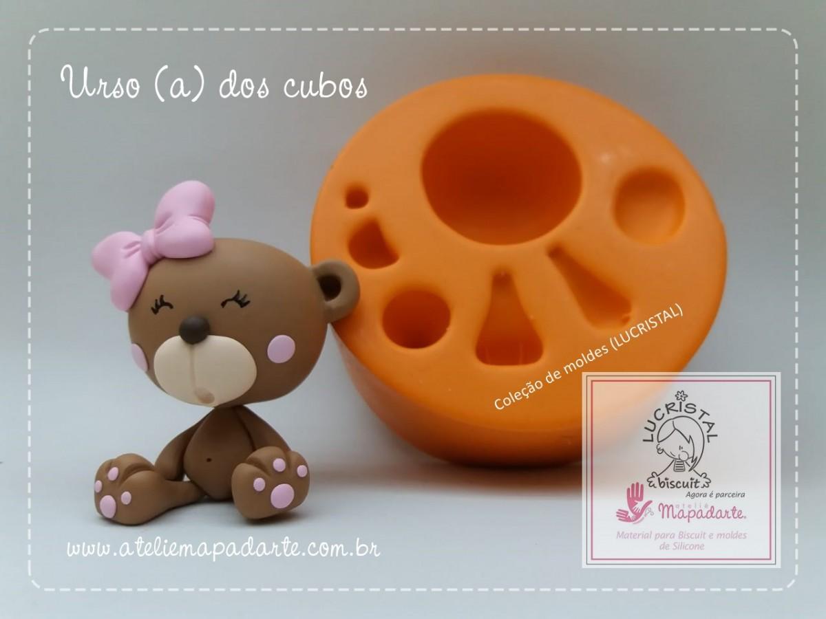 Foto 1 - Cód LC15 Molde de silicone kit urso para cubos (LUCRISTAL)