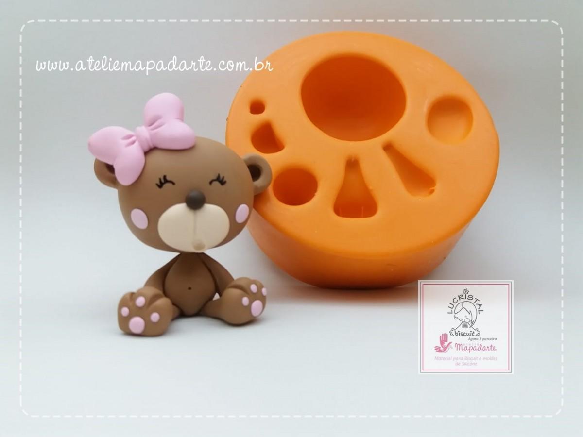 Foto2 - Cód LC15 Molde de silicone kit urso para cubos (LUCRISTAL)