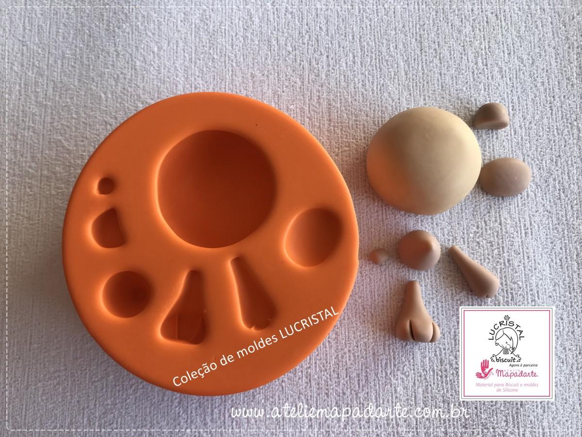 Foto3 - Cód LC15 Molde de silicone kit urso para cubos (LUCRISTAL)