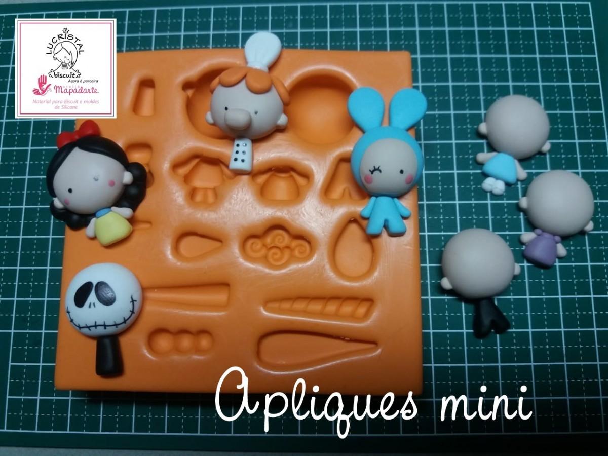 Foto4 - Cód LC18 Molde de silicone coleção Lucristal apliques mini