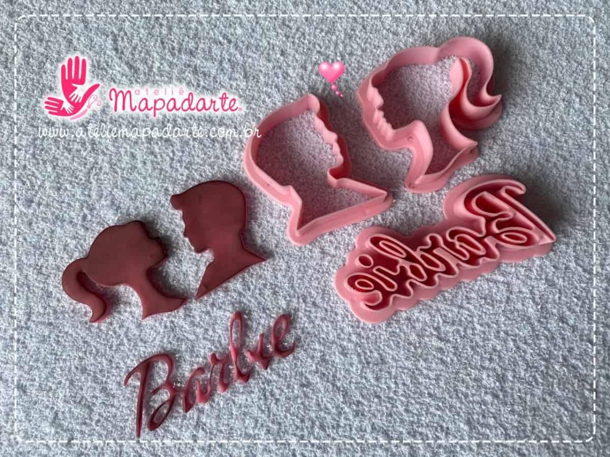 Foto2 - Cód M077 kit cortador de barbie com 3 peças (importado)