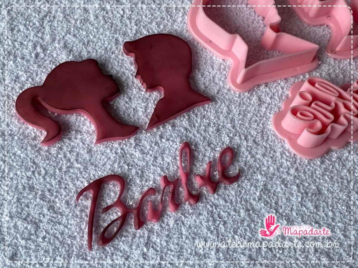Foto 1 - Cód M077 kit cortador de barbie com 3 peças (importado)