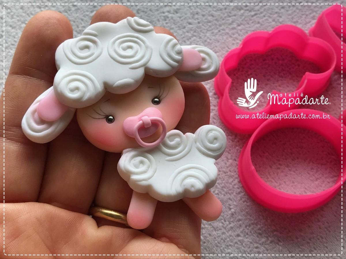 Foto3 - Cód M1277 Cortador de ovelha em plástico PLA ref. 045-6 07 peças(AC)