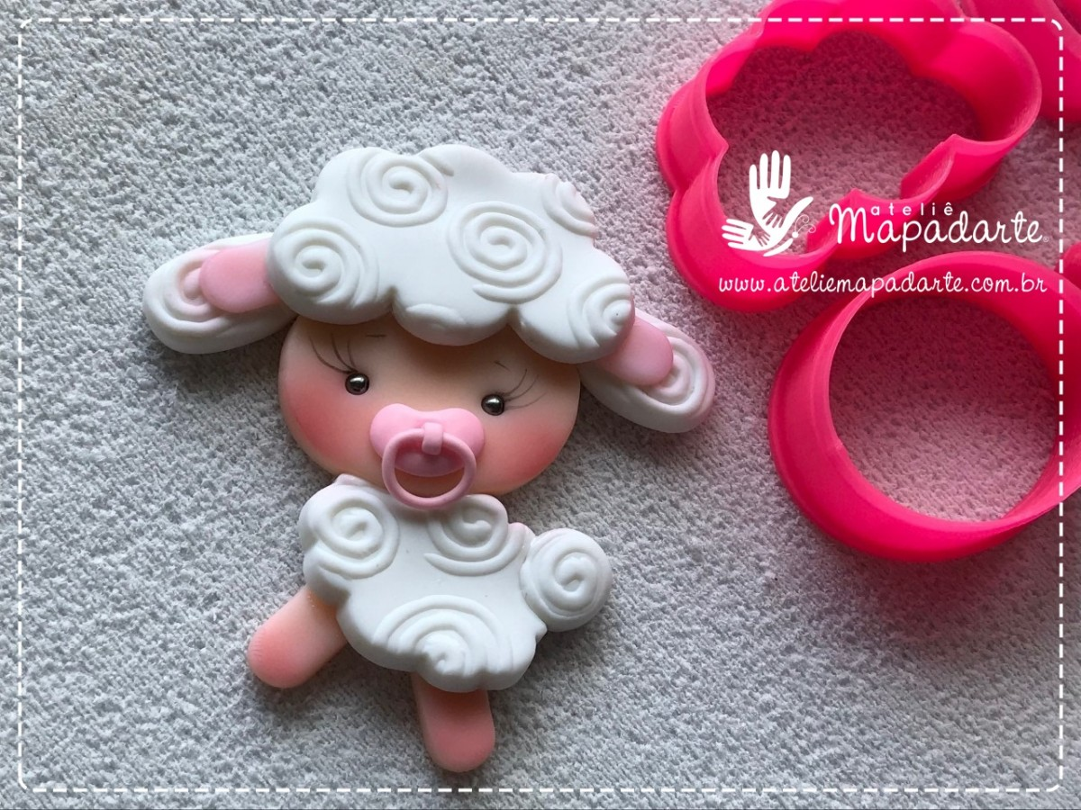 Foto 1 - Cód M1277 Cortador de ovelha em plástico PLA ref. 045-6 07 peças(AC)