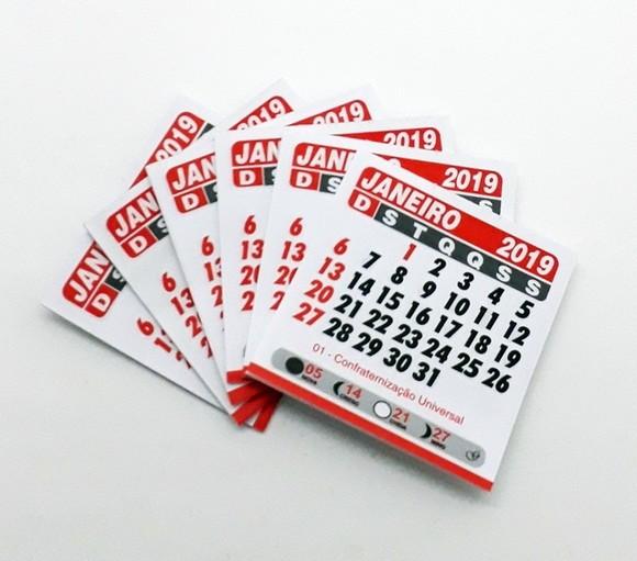 Foto 1 - Cód M173 Mini calendário 2019 com 10 un