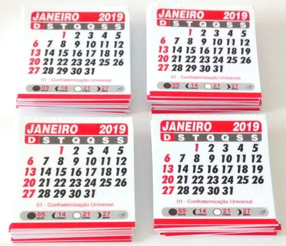 Foto2 - Cód M173 Mini calendário 2019 com 10 un