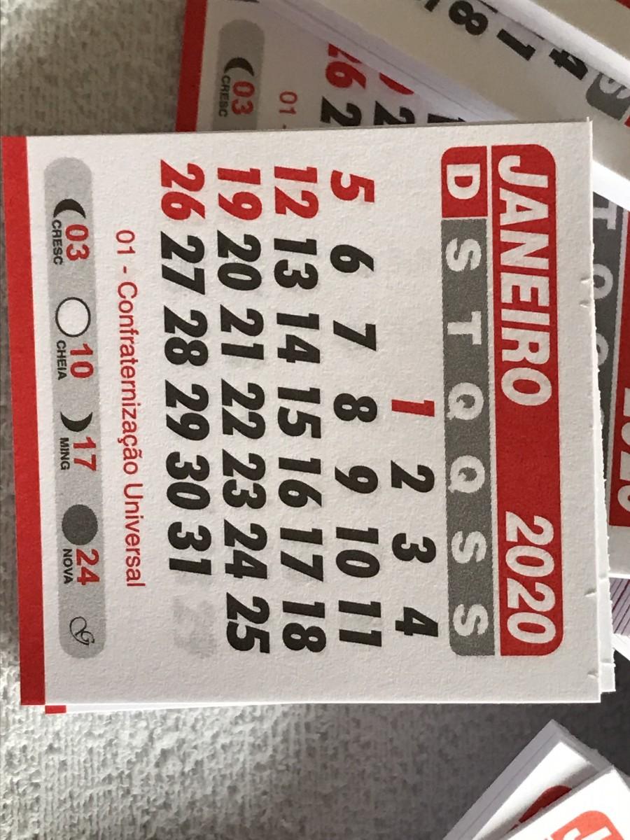 Foto 1 - Cód M173 Mini calendário 2020 com 10 un