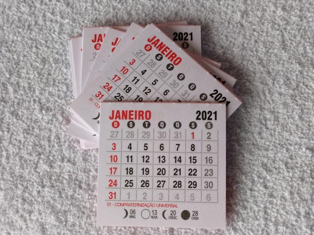 Foto 1 - Cód M173 Mini calendário 2021 com 10 un
