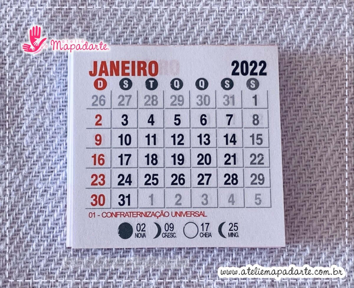 Foto 1 - Cód M173 Mini calendário 2022 com 10 un