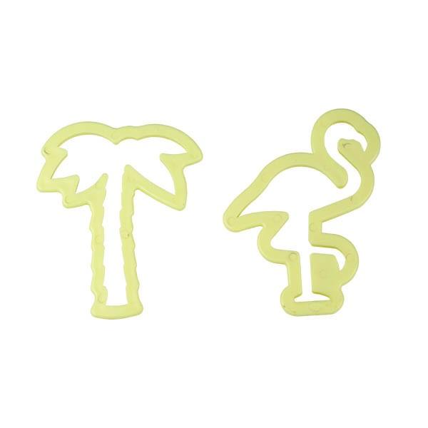 Foto 1 - Cód M2751 Cortador tropical flamingo e coqueiro 02 un Blue star
